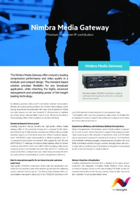 Nimbra Media Gateway print