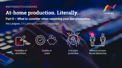 What to consider when resuming your live production